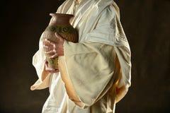 Jesus Hands Holding Jar Imágenes de archivo libres de regalías