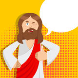 Jesus hands shows thumbs upl. Son of God. Signs all right. Thumb Royalty Free Stock Images