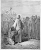 Jesus healing the demoniac boy Stock Image