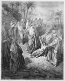Jesus heals an epileptic Stock Image