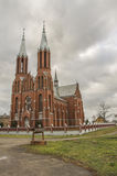 Jesus Heart Roman Catholic Church abençoado em Liksna Fotos de Stock