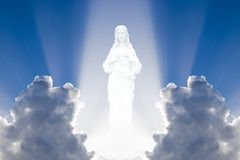 Jesus in the heaven Royalty Free Stock Images