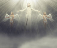 Jesus And His Angels Illustration Stock Photo