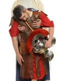 Jesus holding a Roman soldier Stock Photo