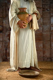 Jesus Holding Water Jar Royalty Free Stock Photos