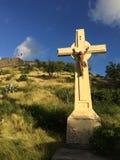 Jesus. Holy cross against the sky - Saint Martin Royalty Free Stock Photo