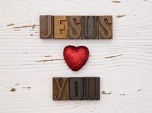 Jesus houdt van u Royalty-vrije Stock Foto's