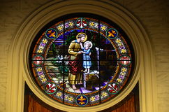 Jesus , hugging Saint Joseph Stock Image