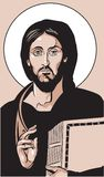Jesus Icon. A religious icon of Jesus Christ Royalty Free Stock Photography