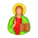 Jesus-Ikone in der Karikaturart Stockbild