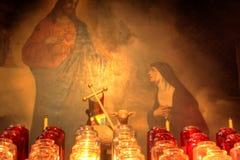 Jesus ilumina o coração. fotos de stock royalty free