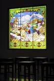 Jesus im Kirche ` s Ornamentalfenster Lizenzfreies Stockfoto