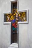 Jesus im Kreuz Lizenzfreie Stockfotos