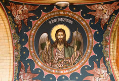 Jesus image on church ceiling Stock Images