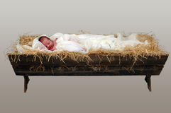 Jesus In A Manger Royalty Free Stock Photography