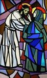 Jesus incontra la sua madre Immagini Stock