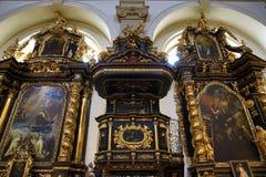 Jesus infantil de Praga (Checo: Tko do ¡ de Jezulà do ské do ¾ de PraÅ;), igreja de nossa senhora Fotos de Stock Royalty Free