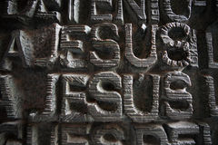 Jesus - inscriptions Stock Photo
