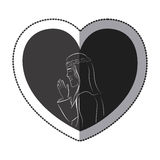 Jesus inside heart design Royalty Free Stock Photo