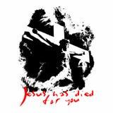 Jesus ist für Sie gestorben Christliche Illustration vektor abbildung