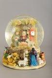 jesus josef mary för christ jullathund julkrubba Fotografering för Bildbyråer