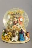 jesus josef mary för christ jullathund julkrubba Arkivfoton