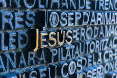 Jesus is a key word Stock Photos