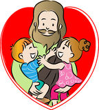 Jesus and kids Royalty Free Stock Photos
