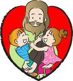 Jesus and kids Royalty Free Stock Photography