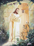 Jesus knocking at the door. Jesus is knocking at the door original oil painting on canvas Royalty Free Stock Images