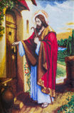 Jesus knocking at house door Stock Photography