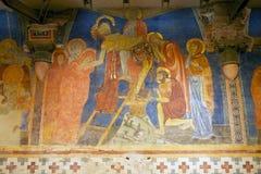 Jesus korsfästelse, nedstigning från korset, Siena, Italien Royaltyfri Fotografi