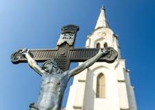 Jesus Kristusstaty Fotografering för Bildbyråer