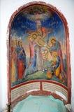 Jesus kropp som tar bort från korset Arkivfoto