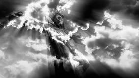 Jesus kruisigde Stock Afbeelding