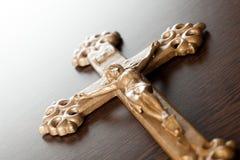 Jesus kruisigde op het kruis Royalty-vrije Stock Foto's