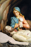 Jesus is laid in the tomb Royalty Free Stock Photos
