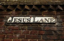 Jesus Lane Royalty Free Stock Photo