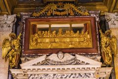 Jesus Last Supper Basilica Saint John Lateran Cathedral Rome Italy images libres de droits