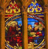Jesus Lazarus Stained Glass Cathedral Toledo Spain Stock Photos