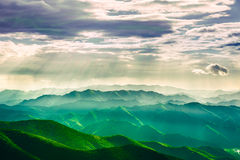 Jesus Light in montagne fotografie stock libere da diritti