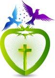 Jesus logo. Illustration art of a jesus logo with isolated background Stock Illustration