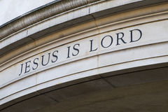 Jesus is Lord royalty free stock images