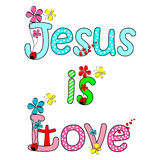 Jesus is love Royalty Free Stock Photos