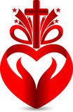 Jesus love gift logo Royalty Free Stock Photo