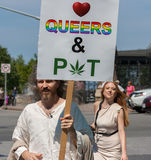 Jesus Loves Queers and Pot Stock Image