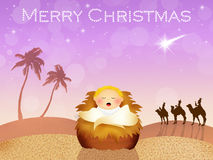 Jesus in the manger Royalty Free Stock Image