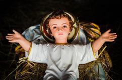 Jesus in the manger. The infant Jesus in the manger ,nativity,Christmas,Jesus is born Royalty Free Stock Photo