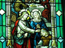 Jesus and Mary Stock Photography