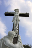 Jesus and mary. Moument of jesus on the cross with mother mary Stock Images